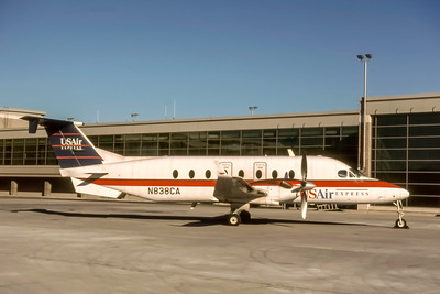 USAir Express, N838CA, Beech 1900D, msn UE34, Photo by J. Fernandez Collection, Image LL014RGJF