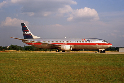USAir, N415US, Boeing 737-401, msn 23883, Photo by John A. Miller, GSO, Image L009RGJM