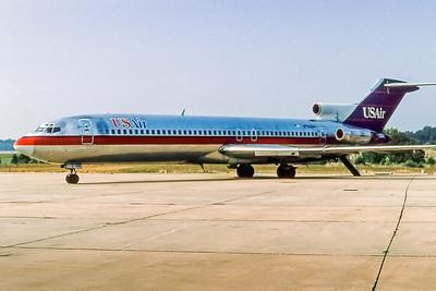 USAir, N750US, Boeing 727-214, msn 21512, Photo by John A Miller, GSO, Image I0852RGJM