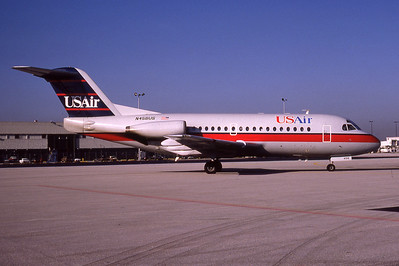 USAir, N456US, Fokker F-28-1000, msn 11035, Photo by Photo Enrichments Collection, Image F001RGJC