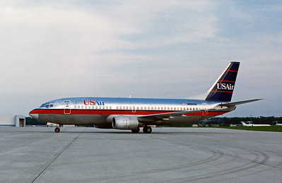USAir, N592US, Boeing 737-301, msn 23937, Photo by John A. Miller, GSO, Image K012LGJM