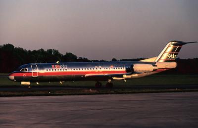 USAir, N864US, Fokker F28-0100, msn 11306, Photo by John A. Miller, GSO, Image G003LGJM