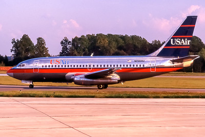 USAir, N256AU, Boeing 737-201(ADV), msn 22798, Photo by John A Miller, GSO, Image J067LGJM