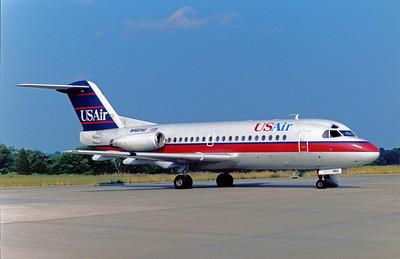 USAir, N462AU, Fokker F28-1000 Fellowship, msn11054, Photo by John A. Miller, GSO, Image F004RGJM