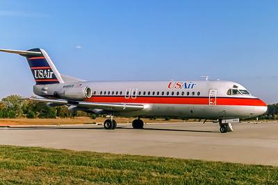 USAir, N493US, Fokker F-28-4000, msn 11161, Photo by John A. Miller, GSO, Image F012RGJM