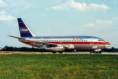 USAir, N268AU, Boeing 737-2B7(ADV), msn 22880, Photo by John A Miller, GSO, Image J131RGJM