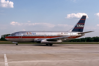 USAir, N252AU, Boeing 737-201(ADV), msn 22758, Photo by John A Miller, GSO, Image J107LGJM