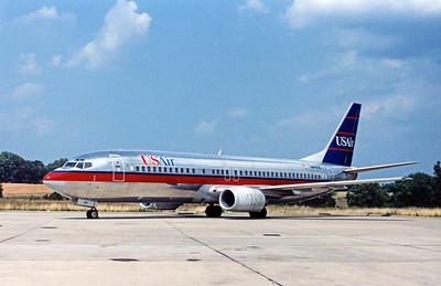 USAir, N441US, Boeing 737-4B7, msn 24812, Photo by John A. Miller, GSO, Image L003LGJM