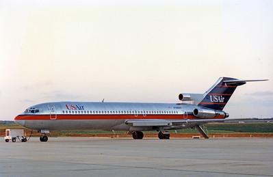 USAir, N766US, Boeing 727-227Adv, msn 21999, Photo by John A. Miller, GSO, Image I002LGJM