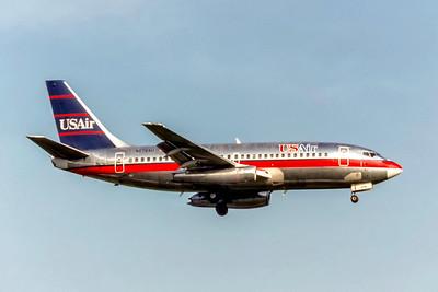 USAir, N278AU, Boeing 737-2B7(A), msn 22890, Photo by Eddy Gual, Image J174RAEG
