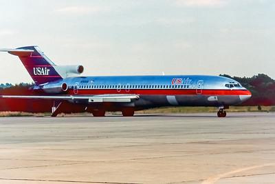 USAir, N753US, Boeing 727-214, msn 21692, Photo by John A Miller, GSO, Image I084LGJM