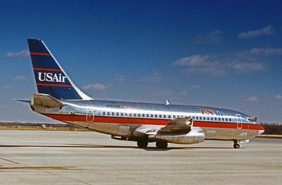 USAir, N264AU, Boeing 737-201Adv, msn 22961, Photo by John A. Miller, GSO, Image J001RGJM