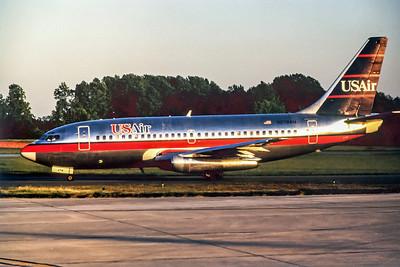 USAir, N278AU, Boeing 737-2B7, msn 22890, Photo by John A Miller, GSO, Image J055LGJM
