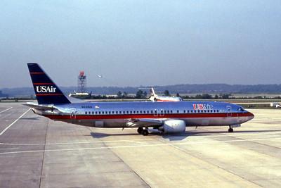 USAir, N433US, Boeing 737-4B7, msn 24555, Photo by John A. Miller, CLT, Image L004RGJM
