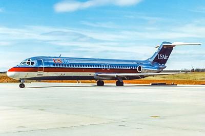 USAir, N973VJ, Douglas DC-9-31, msn 47099, Photo by John A Miller, GSO, Image C110LGJM