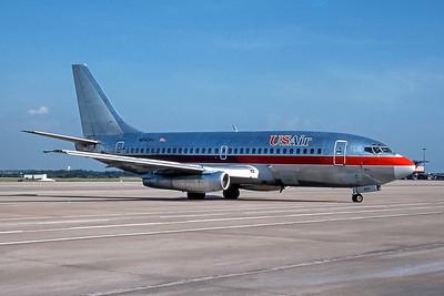 USAir, N252AU, Boeing 737-201Adv, msn 22758, Photo by Frank Hines, ATL, Image J147RAFH