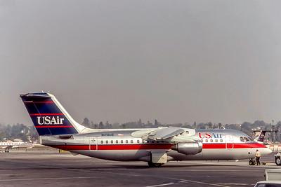 USAir, N178US, Bae-146-200A, msn E2040, Photo by Eddy Gual Collection, Image W023RGEG