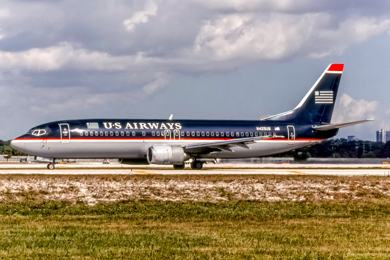 USAirways, N425US, Boeing 737-401, msn 23992, Photo by Photo Enrichments Collection, Image L042LGJC