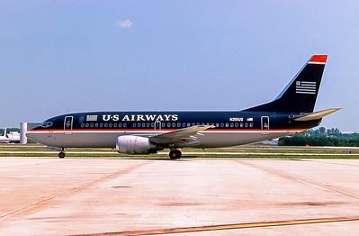 USAirways, N351US, Boeing 737-301, msn 23259, Photo by Frank Hines, GSO, Image K108LGFH
