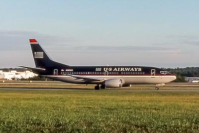 USAirways, N385US, Boeing 737-3B7, msn 22958, Photo by John A Miller, GSO, Image K051RGJM