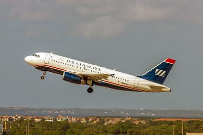 USAirways, N823AW, Airbus A319-132, msn 1463, Photo by John A Miller, TPA, Image AB049LAJM