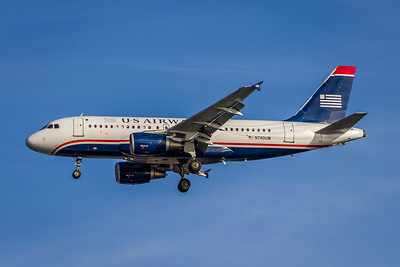 USAirways, N740UW, Airbus A319-112, msn 1265, Photo by John A MIller, DCA-TPA, Image AB033LAJM