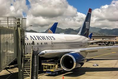 USAirways, N252AU, Boeing 767-2B7(ER), msn 24765, Photo by John A Miller, HNL, Image P051LGJM