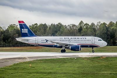 USAirways, N725UW, Airbus A319-112, msn 1135, Photo by John A Miller, CLT, Image AB006RGJM