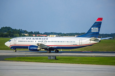 USAirways, N439US, Boeing 737-4B7, msn 24781, Photo by John A Miller, CLT, Image L035LGJM