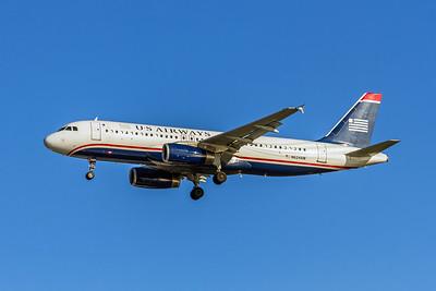 USAirways, N624AW, Airbus A320-231, msn 055, Photo by John A MIller, TPA, Image T107LAJM