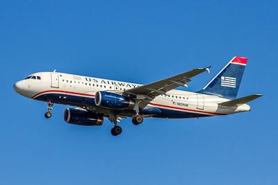 USAirways, N829AW, Airbus A319-100, msn 1563, Photo by John A Miller, TPA, Image AB032LAJM