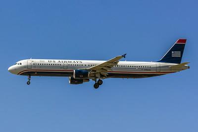USAirways, N196US, Airbus A321-211, msn 3879, Photo by John A Miller, LAX, Image TA009LAJM