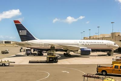 USAirways, N252AU, Boeing 767-2B7(ER), msn 24765, Photo by John A Miller, HNL, Image P052RGJM