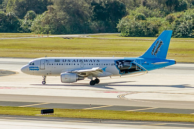 USAirways, N717UW, Airbus A319-112, msn 1069, Photo by John A Miller, TPA, Image AB057LGJM
