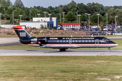 USAirways Express, N216PS, CL-600-2B19 Regional Jet CXRJ-200ER, msn 7882, Photo by Photo Enrichments Collection, Image YY024RGJC