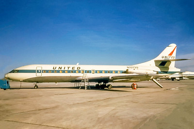 United Airlines, N1013U, Caravelle VIR SE210, msn 98, Photo by Photo Enrichments Collection, Image DD003LGJC