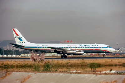 United Airlines, N8004U, Douglas DC-8-11, msn 45281, Photo by Steve Pinnow Collection, Image  B037RGSP