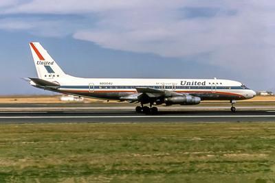 United Airlines, N8004U, Douglas DC-8-20, msn 45281, Photo by Photo Enrichments Collection, Image B040RGJC