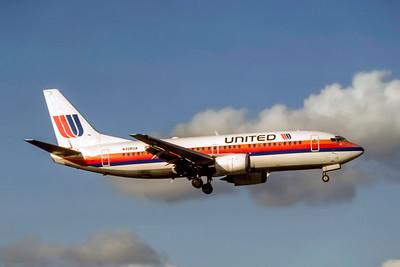 United Airlines, N236UA, Boeing 737-322, msn 23958, Photo by Joe Fernandez Collection, image K156RAJF