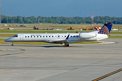 United (ExpressJet Airlines), N17159, EMB-145XR, msn 145792, Photo by John A. Miller, IAH, Image YD002LGJM