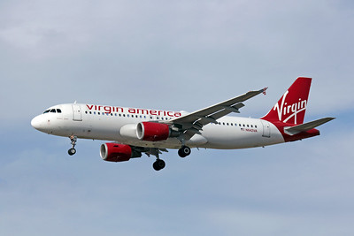 "Virgin America ""Breanna Jewel"", N642VA, Airbus A320-214, msn 3670, Photo by John A. Miller, LAS, Image T013LAJM"