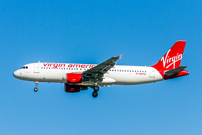 "Virgin America, N621VA, Airbus A320-214, msn 2616, Photo by John A Miller, LAX, Image T136LAJM, ""Air Colbert"""