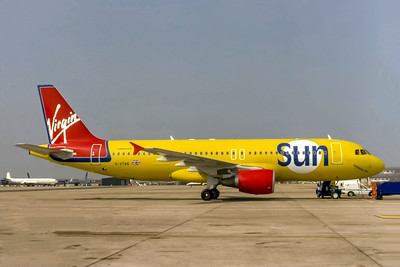 Virgin Sun, G-VAN, Airbus A320-214, msn 764, Photo by J. Fernandez Collection, Image T161RGJF