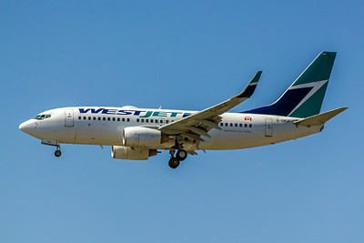 WestJet, C-GWJF, Boeing 737-7CT(WL), msn 32766, Photo by John A Miller, LAX, Image TT08LAJM