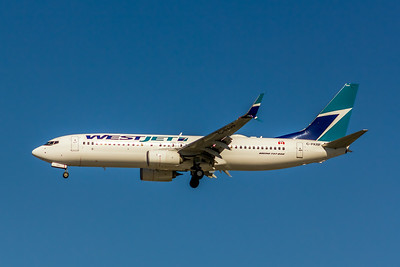 WestJet, C-FKRF, Boeing 737-8CT(WL), msn 60123, Photo by John A Miller, LAX, Image UU080LAJM