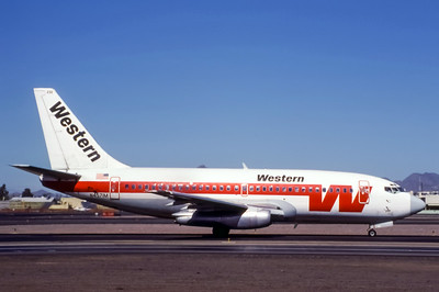 Western, N4571M, Boeing 737-2T2Adv, msn 22793, Photo by Adrian J Smith, Image J031RGAS