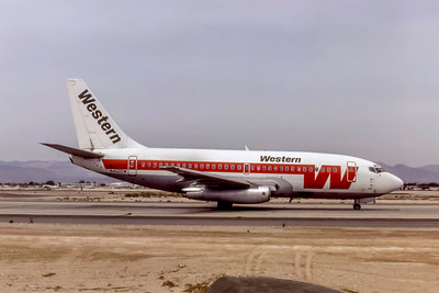 Western Airlines, N4520W, Boeing 737-247, msn 19617, Photo by Photo Enrichments Collection, Image J189RGSO