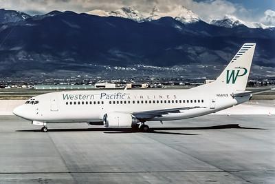 Western Pacific, N581AU, Boeing 737-301, msn 23259, Photo by Andrew Abshier, Image K037LGAA