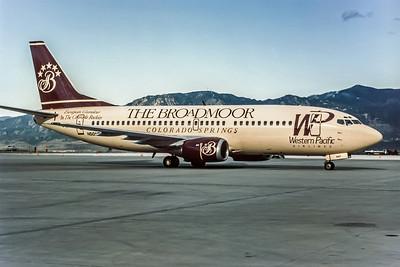 Western Pacific, N501AU, Boeing 737-3B7, msn 23376, Photo by Andrew Abshier, Image K035RGAA