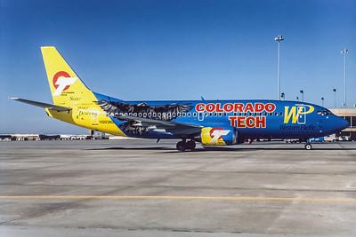 Western Pacific, N503AU, Boeing 737-3B7, msn 23378, Photo by Andrew Abshier, Image K036RGAA